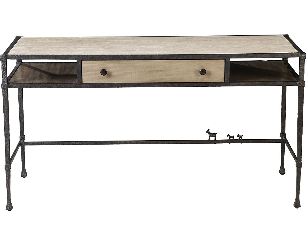 Ed Ellen Degeneres Bonnabel Metal And Stone Desk Crafted By Thomasville