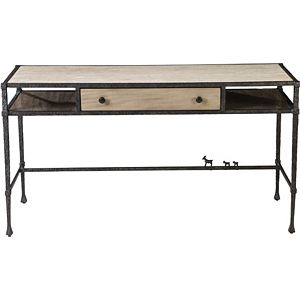 ED Ellen DeGeneres Bonnabel Metal and Stone Desk Crafted by Thomasville