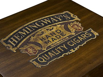 Ernest Hemingway, Thomasville Furniture, Thomasville, Furniture, Hemingway, Havana, Cuba, Tropical Design, Cigar, End Table, Living Room, Living Room Furniture, Living Room Tables