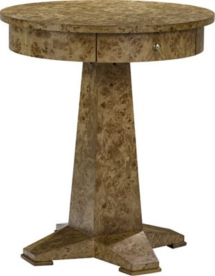 Ernest Hemingway® Perla Round Drawer Lamp Table
