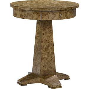 Ernest Hemingway® Perla Round Drawer Lamp Table
