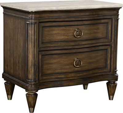 Duval Drawer Night Stand with Stone Top