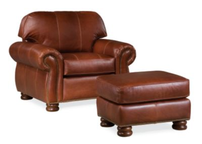 Benjamin Chair and a Half (Leather)  sc 1 st  Thomasville Furniture & Living Room Chairs u0026 Armchairs| Thomasville Furniture | Thomasville ...