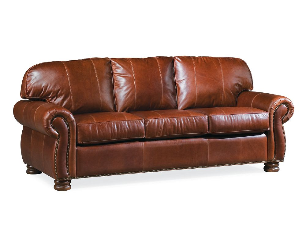 benjamin 3 seat sofa leather thomasville furniture. Black Bedroom Furniture Sets. Home Design Ideas