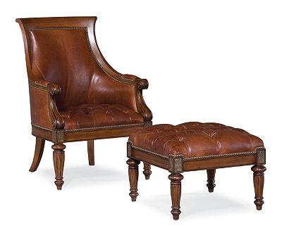 Ernest Hemingway® Anson Ottoman (Leather)
