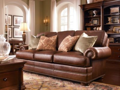 Captivating Thomasville Leather Sofa