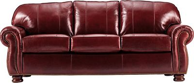 Thomasville Leather Sofa Living Room Benjamin 3 Leather