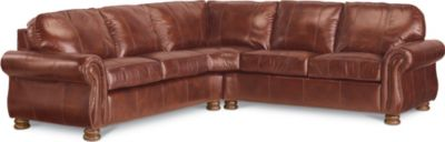 Genial Benjamin Sectional (Two Piece) (Leather)