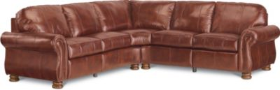 Awesome Benjamin Motion Sectional (Two Piece) (Leather)