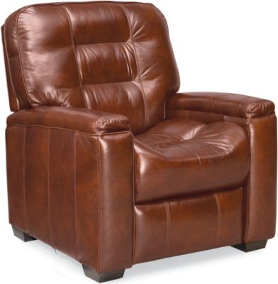 latham media recliner no cup holder manual leather