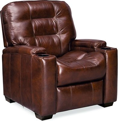 Latham Media Recliner with Cup Holder (Manual) (Leather)