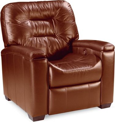 Latham Media Recliner No Cup Holder (Motorized) (Leather)