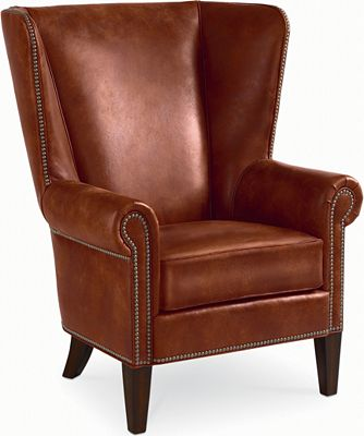 Maynard Wing Chair (Leather)