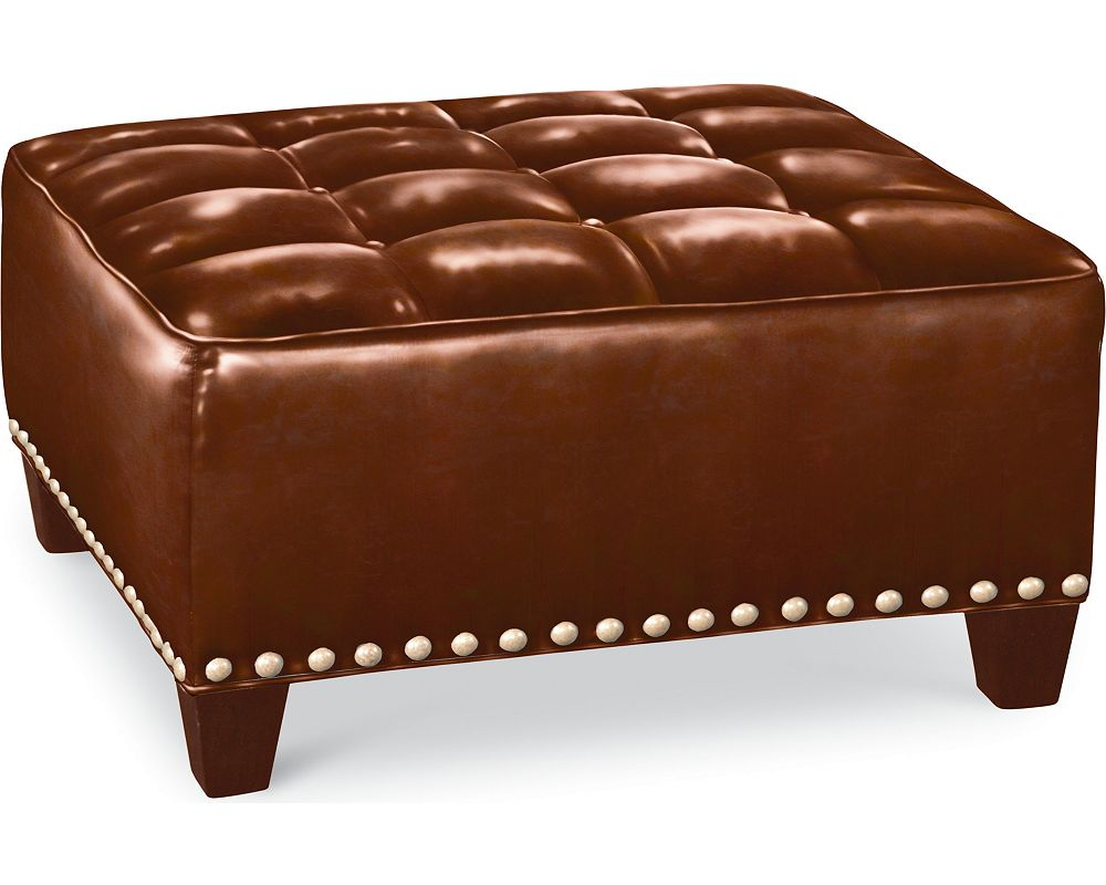 Brooklyn Square Button Top Ottoman (#52 Nails)