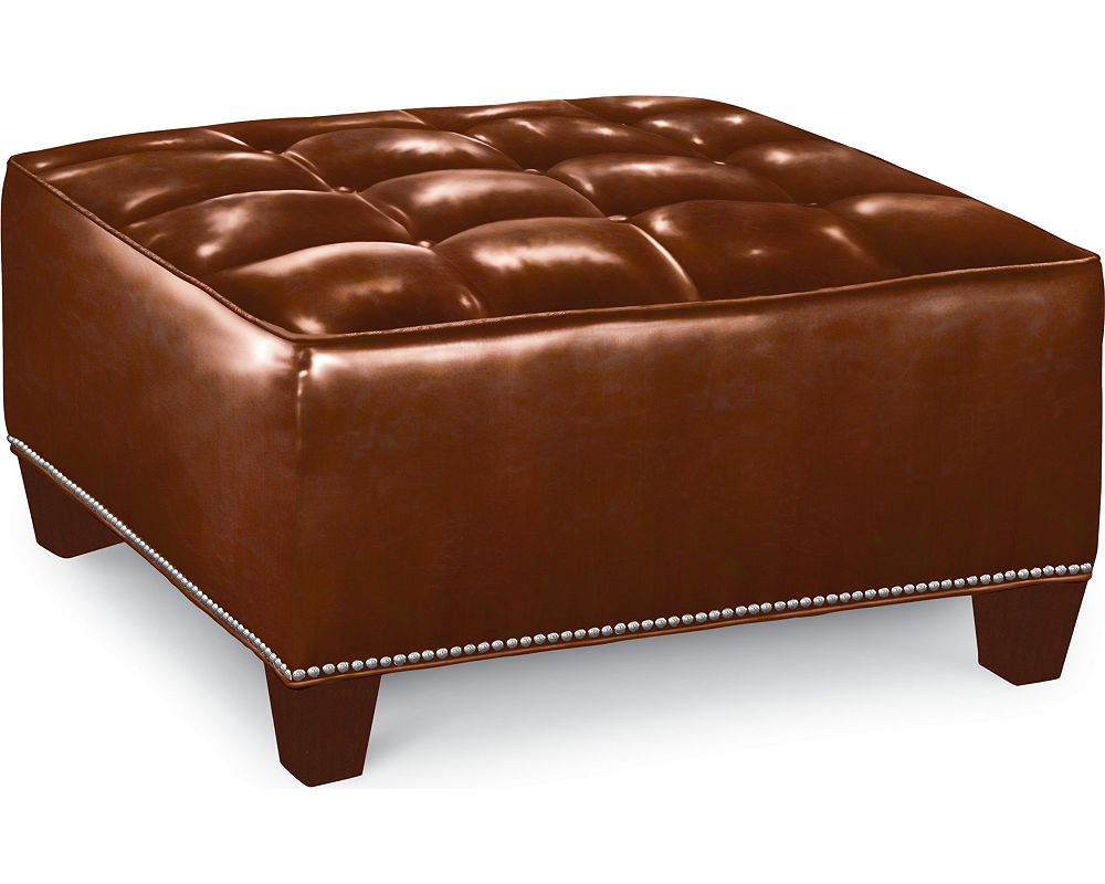 Brooklyn Square Button Top Ottoman (#9 Nails)