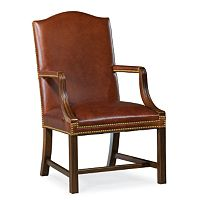 Executive Chippendale Leg Stationary Chair