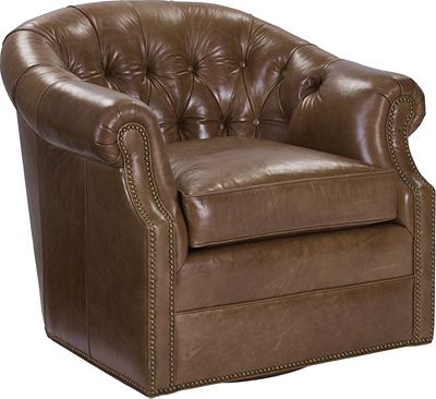 McCallan Swivel Chair (Leather)