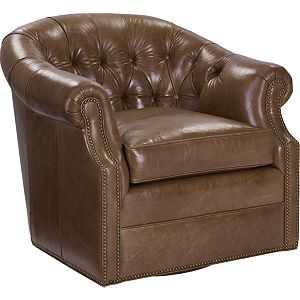 McCallan Swivel Chair (Leather)