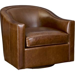 Anthony Baratta Rocco Swivel Chair Leather