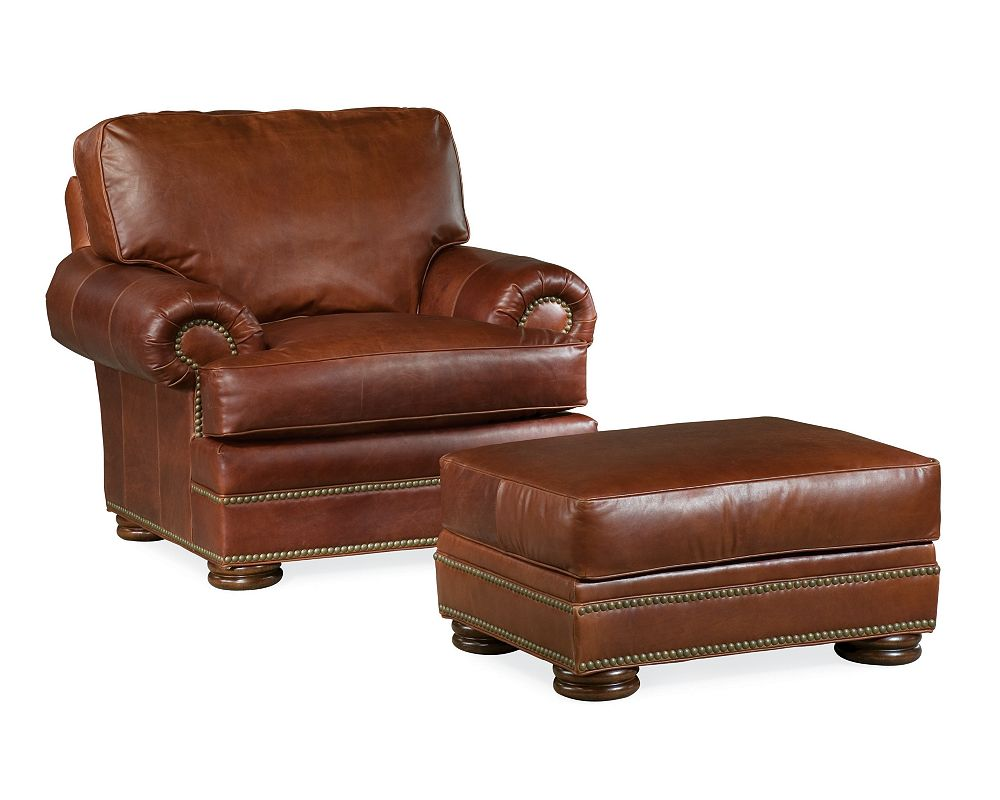 Thomasville Leather Chair And Ottoman Best Home Design 2018