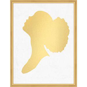 Gold Leaf Silhouette 1