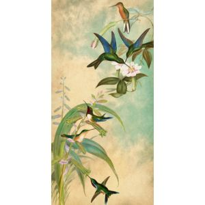Hummingbird Garden Panel 1