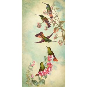 Hummingbird Garden Panel 2