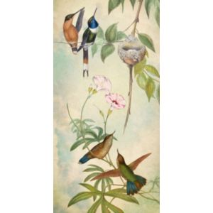 Hummingbird Garden Panel 3