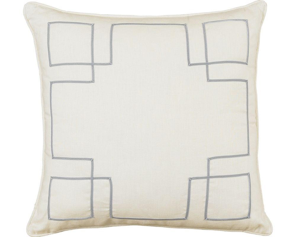 Breeze Slate with Aloe Ribbon Throw Pillow