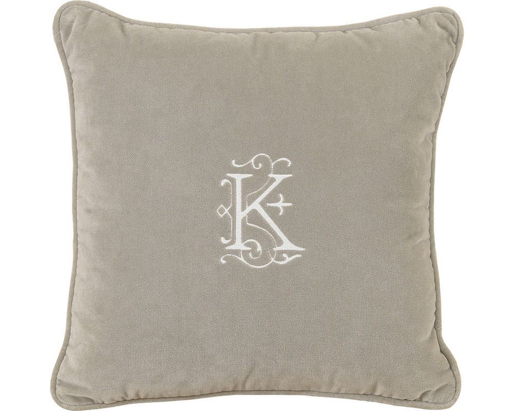 Jackson Heather with Monogram Throw Pillow